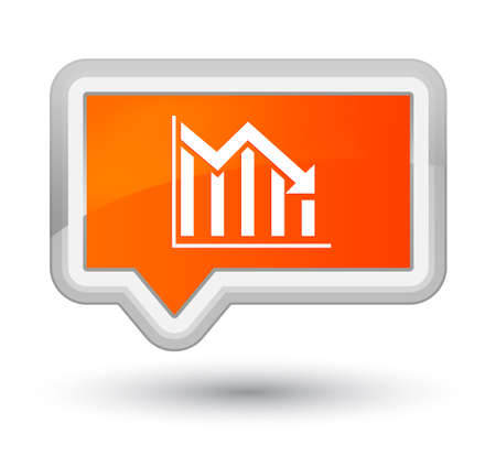 Statistics down icon isolated on prime orange banner button abstract illustration Reklamní fotografie