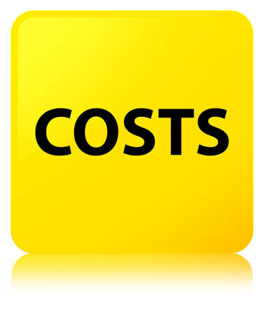 Costs isolated on yellow square button reflected abstract illustration