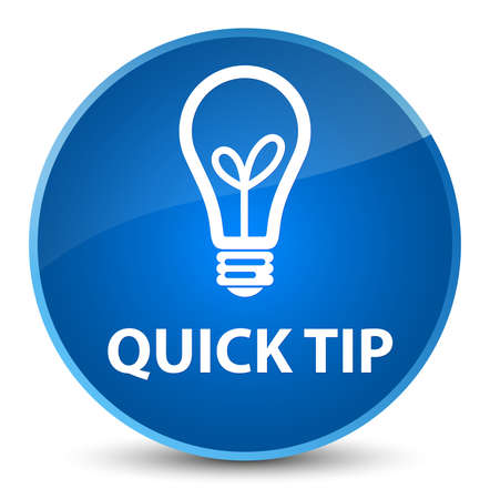 Quick tip (bulb icon) isolated on elegant blue round button abstract illustration Stock Photo