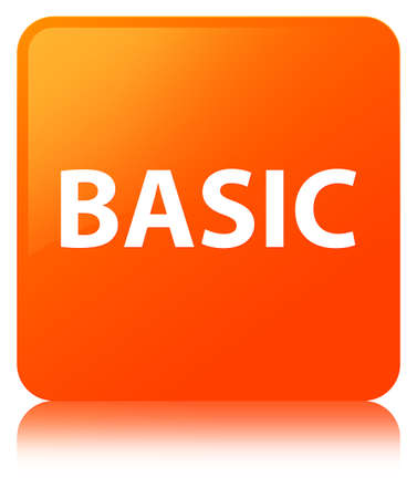 Basic isolated on orange square button reflected abstract illustration