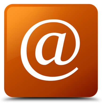 Email address icon isolated on brown square button abstract illustration Stock Photo
