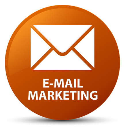 E-mail marketing isolated on brown round button abstract illustration