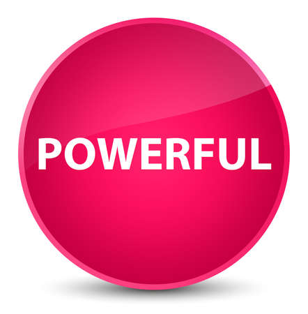 Powerful isolated on elegant pink round button abstract illustration 版權商用圖片