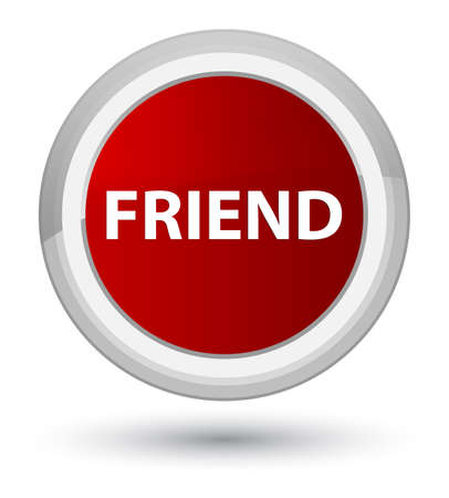 Friend isolated on prime red round button abstract illustration