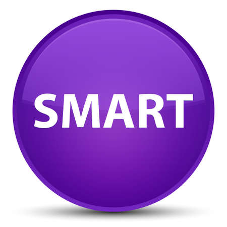 Smart isolated on special purple round button abstract illustration Imagens