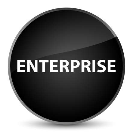 Enterprise isolated on elegant black round button abstract illustration