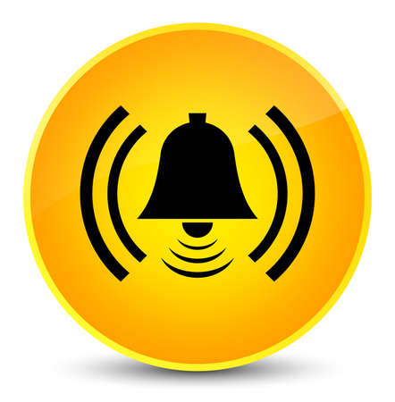 Alarm icon isolated on elegant yellow round button abstract illustration Stock Illustration - 88883732