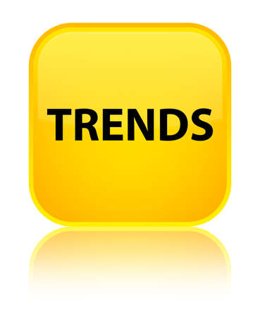 drift: Trends isolated on special yellow square button reflected abstract illustration Stock Photo