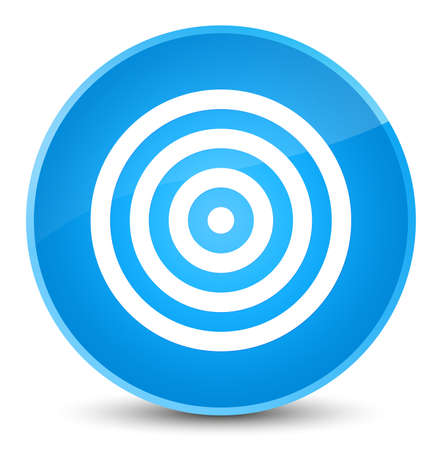 Target icon isolated on elegant cyan blue round button abstract illustration