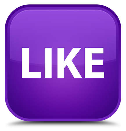 Like isolated on special purple square button abstract illustration