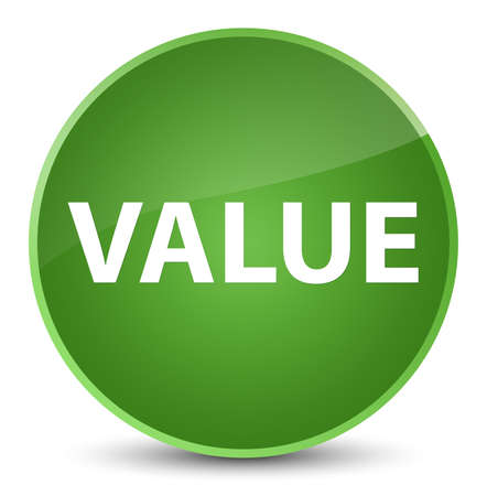 importance: Value isolated on elegant soft green round button abstract illustration Stock Photo