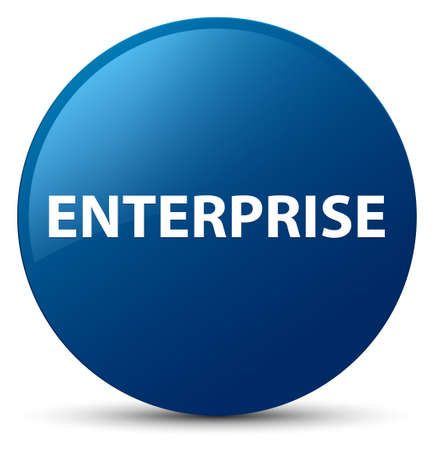 Enterprise isolated on blue round button abstract illustration