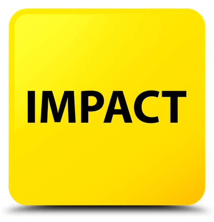 Impact isolated on yellow square button abstract illustration