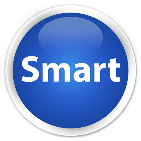 Smart isolated on premium blue round button abstract illustration Imagens