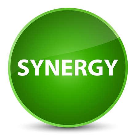 Synergie op elegante groene ronde knoop abstracte illustratie die wordt geïsoleerd