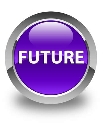 Future isolated on glossy purple round button abstract illustration