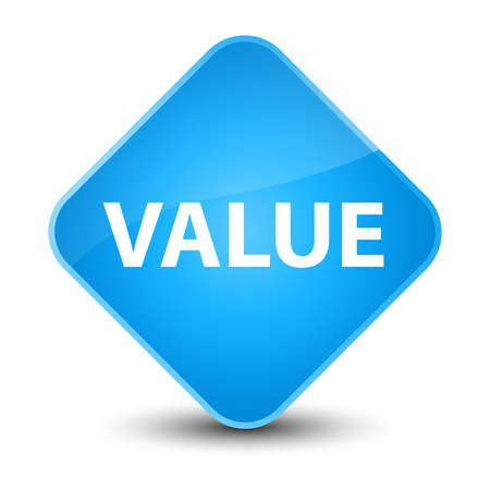 importance: Value isolated on elegant cyan blue diamond button abstract illustration