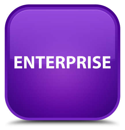 Enterprise isolated on special purple square button abstract illustration