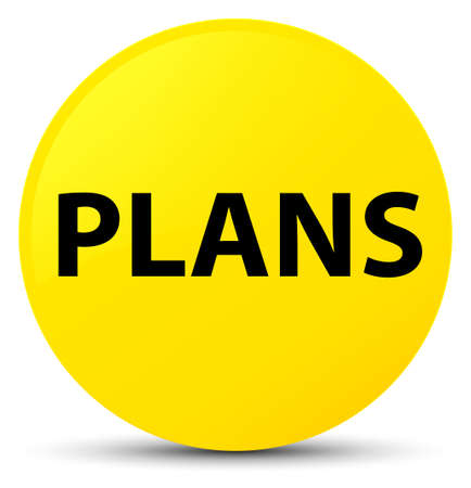 Plans isolated on yellow round button abstract illustration Stock Photo