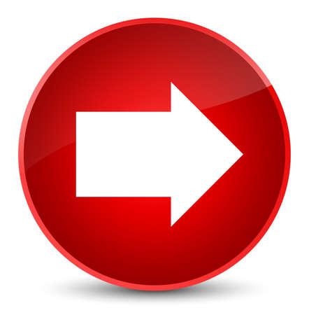 Nächste Pfeilikone lokalisiert auf eleganter roter runder Knopfzusammenfassungsillustration Standard-Bild - 89025356