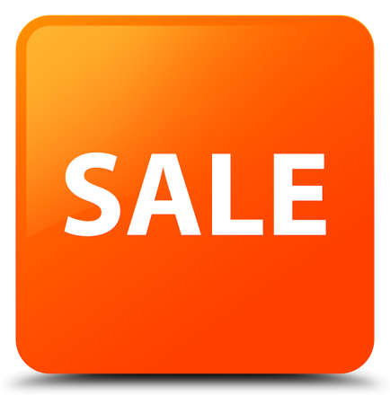 Sale isolated on orange square button abstract illustration