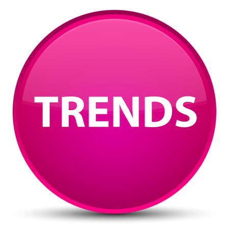 Trends isolated on special pink round button abstract illustration 스톡 콘텐츠