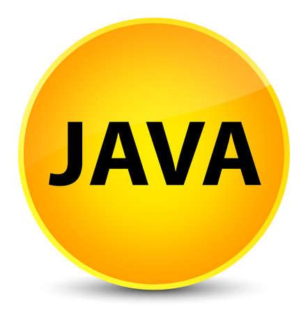 programming code: Java isolated on elegant yellow round button abstract illustration Stock Photo