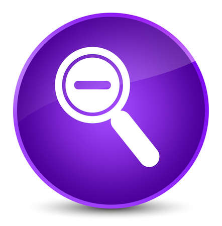 Zoom out icon isolated on elegant purple round button abstract illustration
