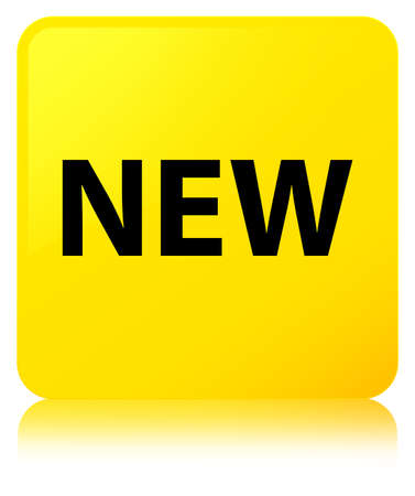 recent: New isolated on yellow square button reflected abstract illustration Stock Photo