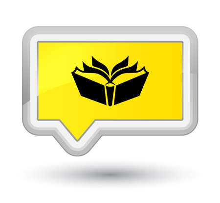 Translation icon isolated on prime yellow banner button abstract illustration