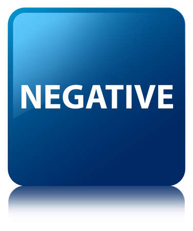 Negative isolated on blue square button reflected abstract illustration Stock Photo