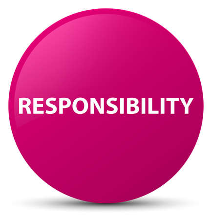 Responsibility isolated on pink round button abstract illustration Reklamní fotografie