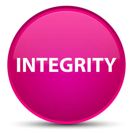 Integrity isolated on special pink round button abstract illustration