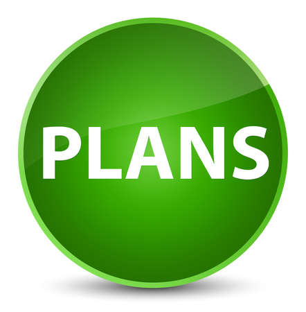 aim: Plans isolated on elegant green round button abstract illustration
