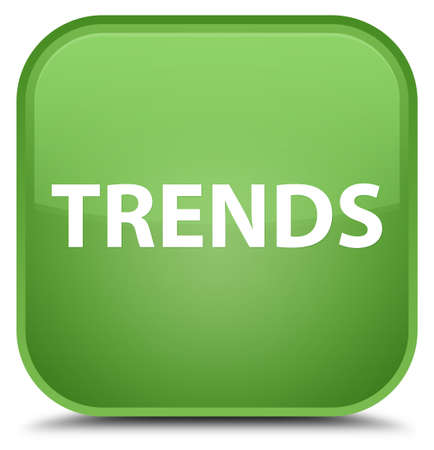 Trends isolated on special soft green square button abstract illustration Stock Photo