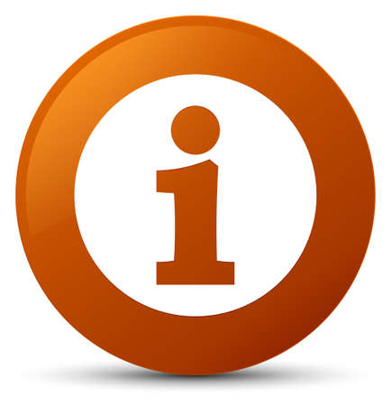 about: Info icon isolated on brown round button abstract illustration Stock Photo