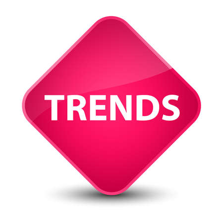 Trends isolated on elegant pink diamond button abstract illustration