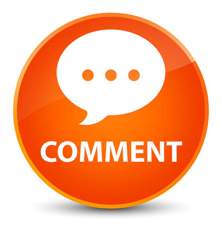 Comment (conversation icon) isolated on elegant orange round button abstract illustration
