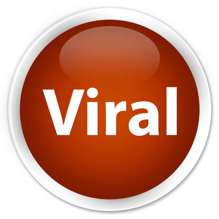 Viral isolated on premium brown round button abstract illustration