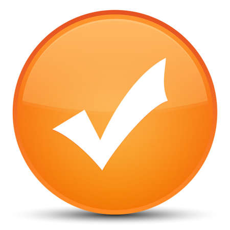 Validation icon isolated on special orange round button abstract illustration Stock Photo