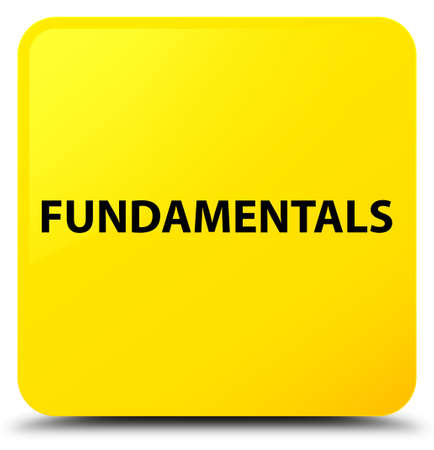 Fundamentals isolated on yellow square button abstract illustration Фото со стока