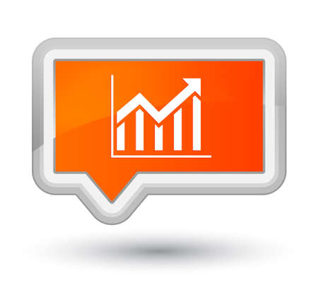 Statistics icon isolated on prime orange banner button abstract illustration