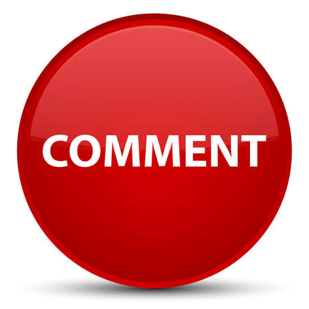 Comment isolated on special red round button abstract illustration