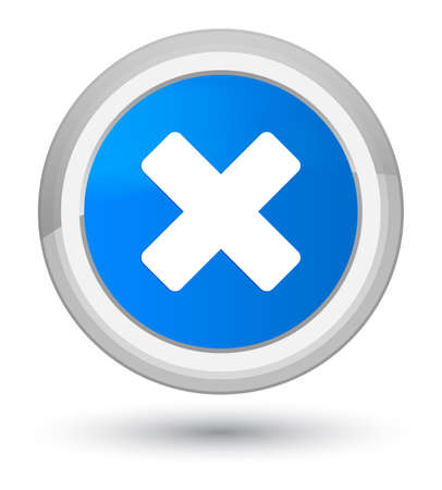 Cancel icon isolated on prime cyan blue round button abstract illustration