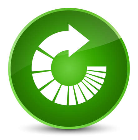 Rotate arrow icon isolated on elegant green round button abstract illustration