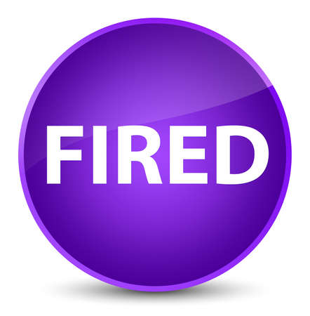 Fired isolated on elegant purple round button abstract illustration