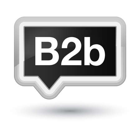 B2b isolated on prime black banner button abstract illustration Stock Photo