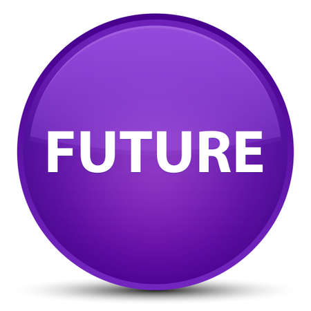 Future isolated on special purple round button abstract illustration Stock Photo