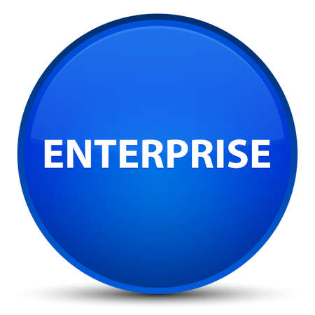 Enterprise isolated on special blue round button abstract illustration