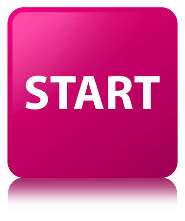 Start isolated on pink square button reflected abstract illustration